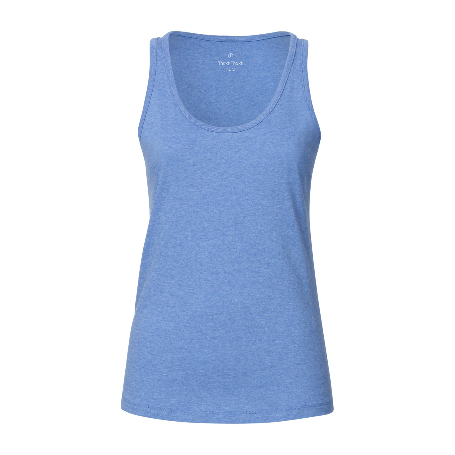 ThokkThokk Damen Tank Top Mid Heather Blue Bio ...