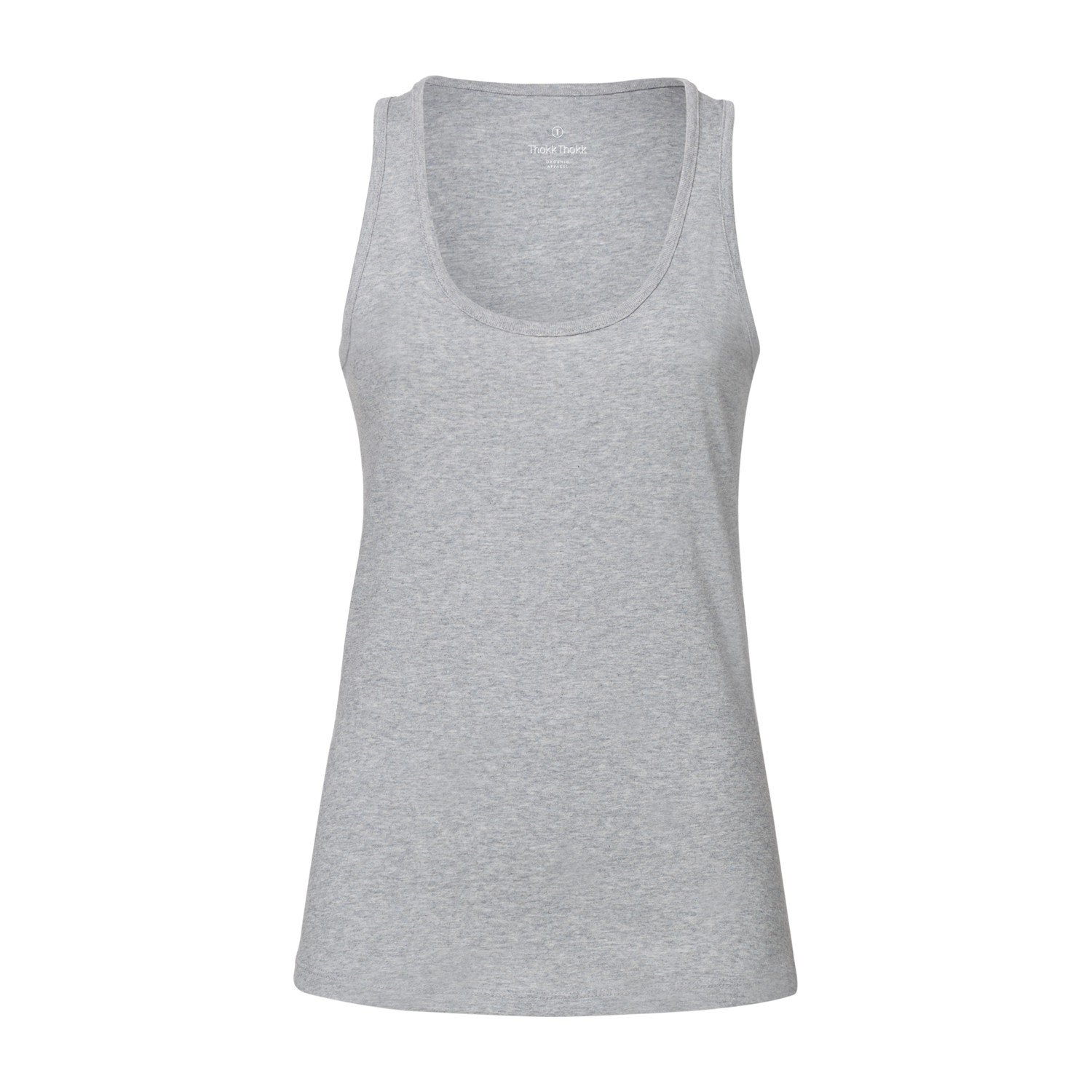 ThokkThokk Damen Tank Top Heather Grey Bio & Fair