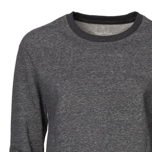 ThokkThokk Damen Cropped Sweatshirt Dark Heather Grey Bio & Fair