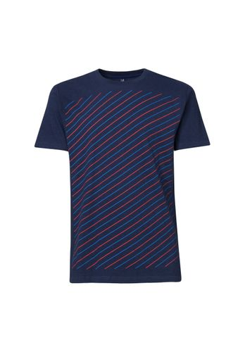 ThokkThokk Herren T-Shirt Thin Striped Dunkelblau Bio Fair