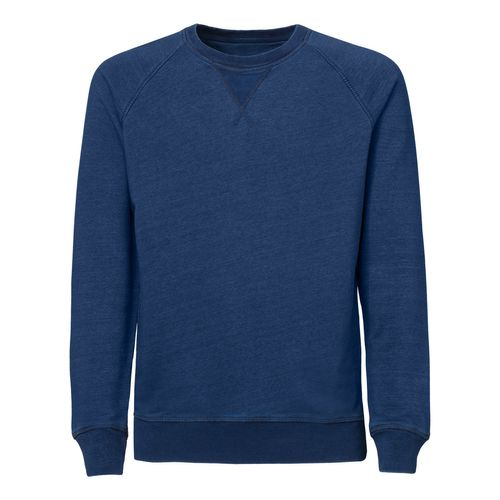 ThokkThokk Herren Denim Sweatshirt Mid Washed Indigo Bio & Fair