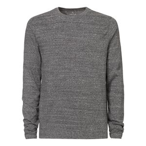 ThokkThokk Herren Longlseeve slub heather steel grey Bio & Fair