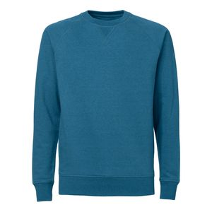 ThokkThokk Herren Raglan Sleeve Sweatshirt dark heather teal Bio & Fair