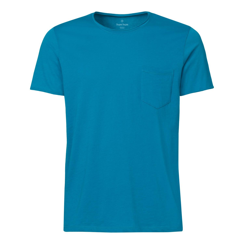 ThokkThokk Herren Raw Edged Pocket T-Shirt Ocea...