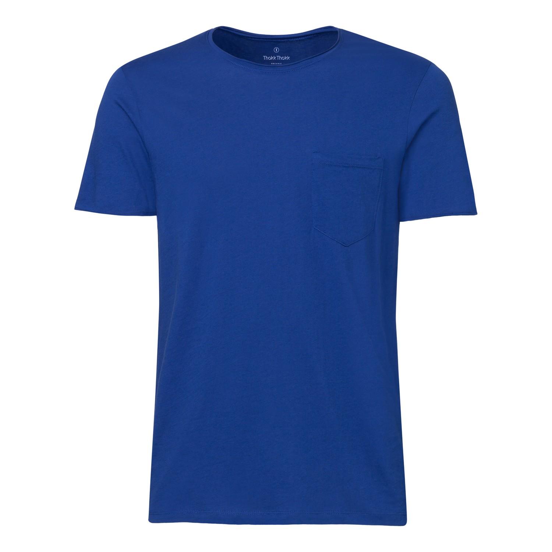 ThokkThokk Herren Raw Edged Pocket T-Shirt Deep...