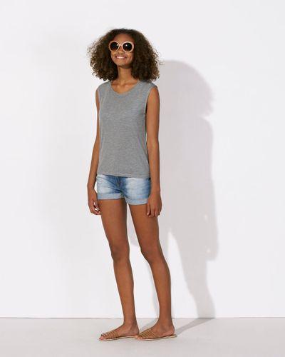 ThokkThokk Woman Sleeveless Modal Shirt Mid Heather Grey Fair