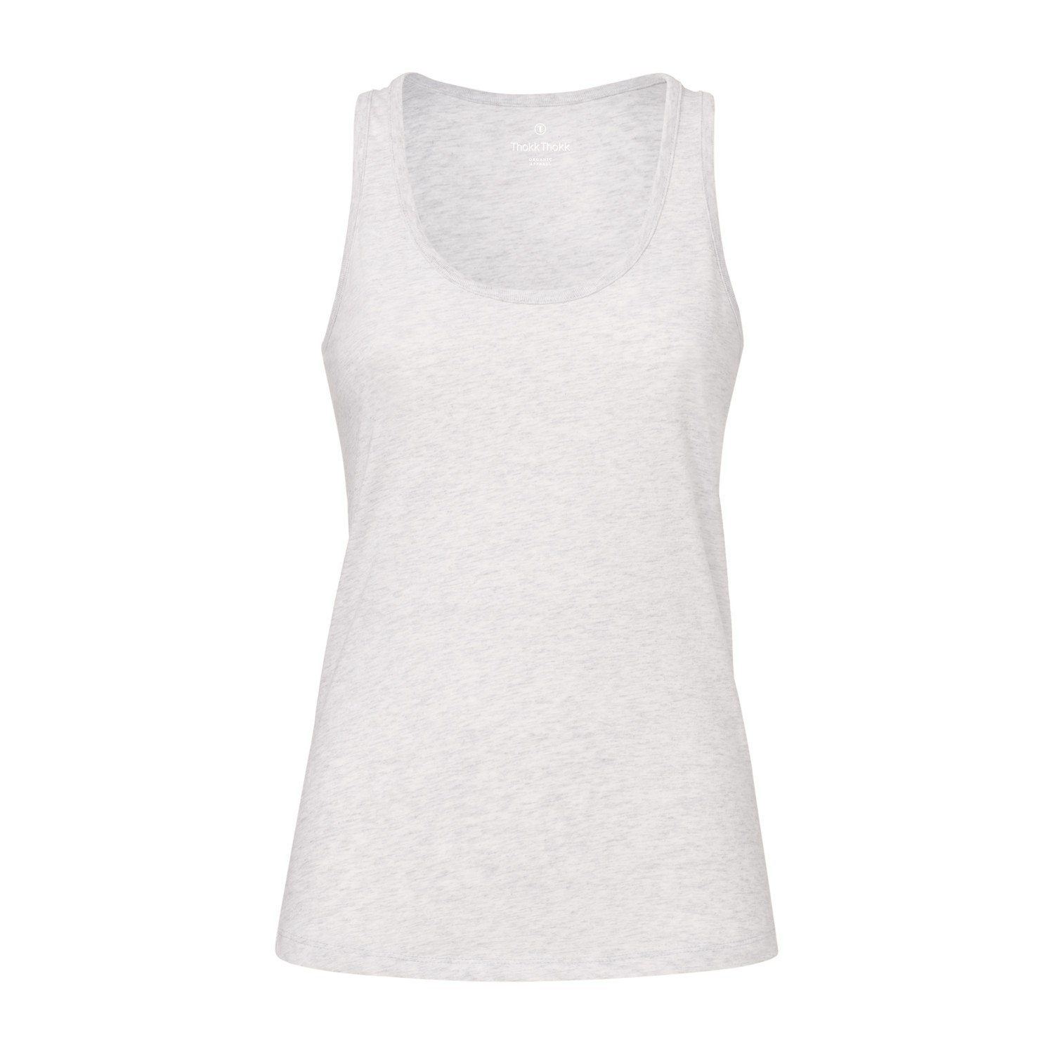 ThokkThokk Damen Tank Top Heather Ash Bio & Fair