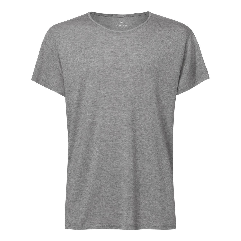 ThokkThokk Herren Modal T-Shirt Mid Heather Gre...