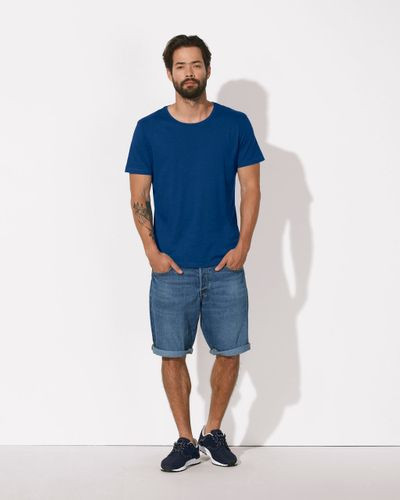 ThokkThokk Man Modal Roundneck T-Shirt Deep Royal Blue Bio & Fairr