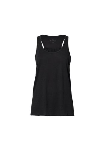 ThokkThokk Woman Tencel Racerback Tank Top Black Bio & Fair