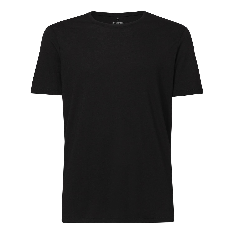 Herren Modal Rundhals T-Shirt Black Bio & Fair