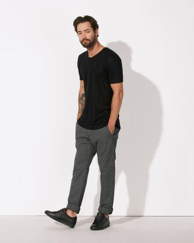 herren leinen t shirt linen grey fair ko ops thokkthokk st. Black Bedroom Furniture Sets. Home Design Ideas