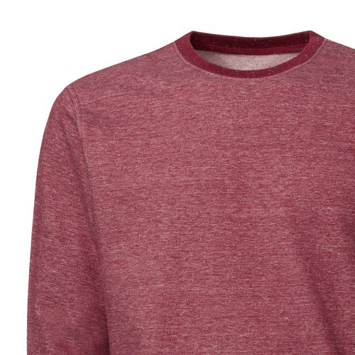 ThokkThokk Man Round Neck Sweatshirt dark heather burgundy Bio & Fair