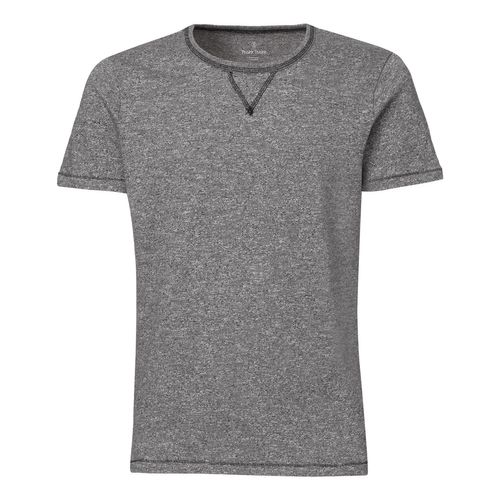 ThokkThokk Herren Kurzarm T-Shirt Marble Slub Heather Black Bio & Fair