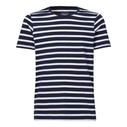 ThokkThokk Herren T-Shirt Gestreift White/Navy Bio & Fair