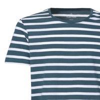 Bild 3 - Herren T-Shirt Gestreift White/Stargazer Bio & Fair