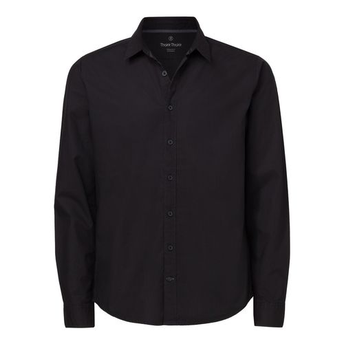 ThokkThokk Man Casual Shirt Black Bio & Fair