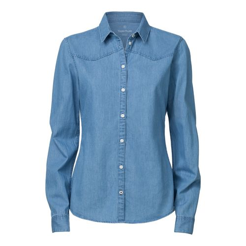 ThokkThokk Woman Denim Shirt Light Indigo Denim Bio & Fair