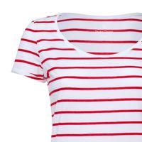Bild 3 - Damen T-Shirt Gestreift White/Deep Red Bio & Fair