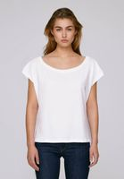 Oversized Cropped T-Shirt White