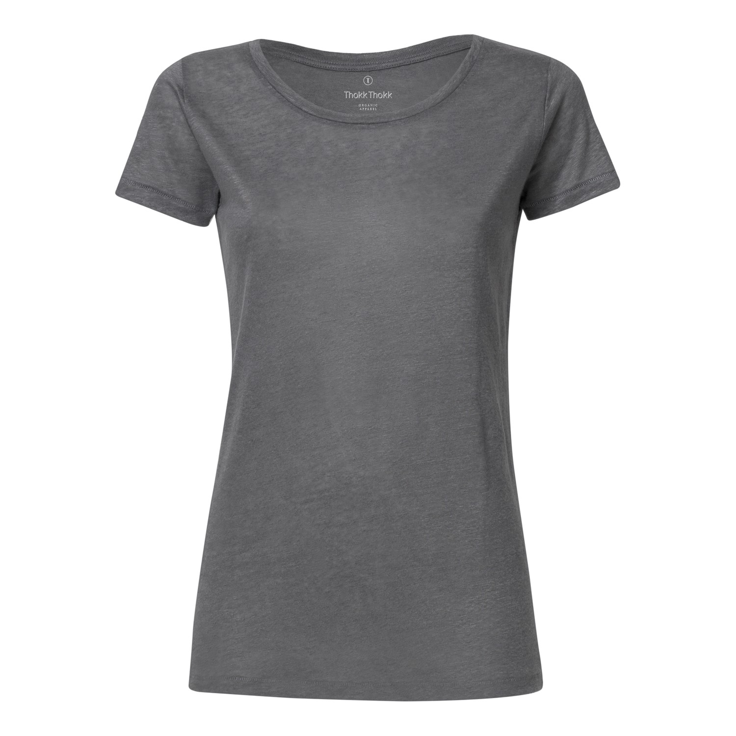 ThokkThokk Damen Leinen T-Shirt Linen Grey Fair