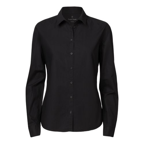 ThokkThokk Woman Casual Shirt Black Bio & Fair