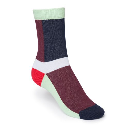 ThokkThokk Layer High-Top Socken Red/Blue Bio
