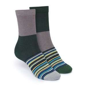 ThokkThokk Triple Striped Twins High-Top Socken Bio