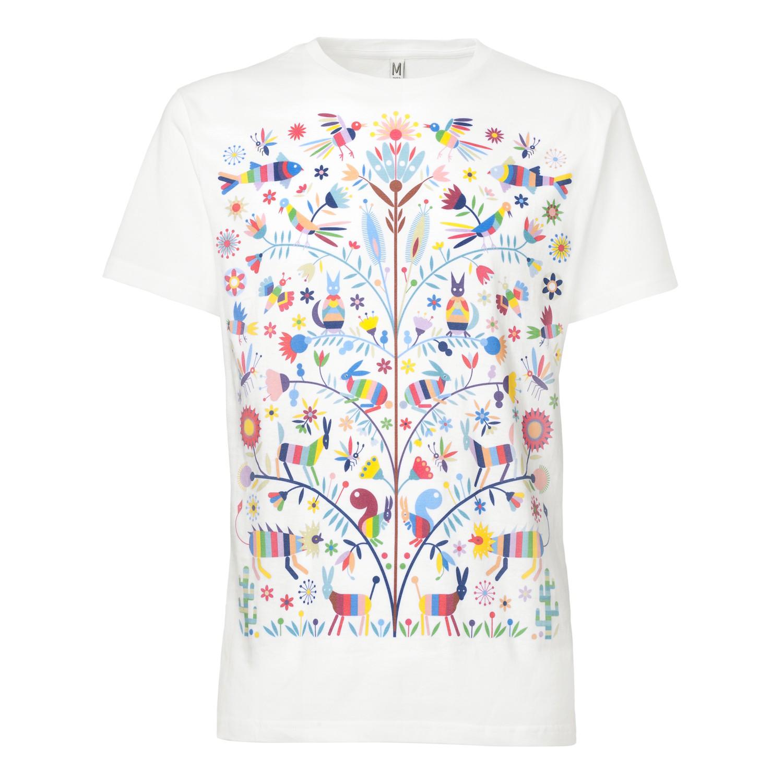 Otomi T-Shirt white GOTS & Fairtrade