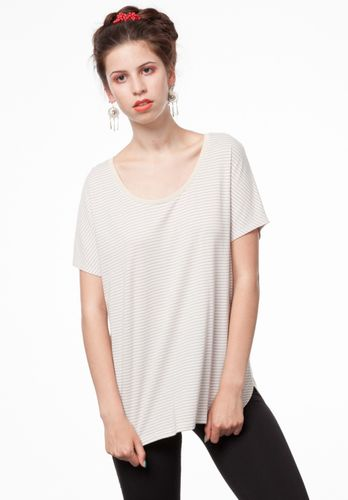 ThokkThokk Damen T-Shirt Triple Striped Beige Bio Fair