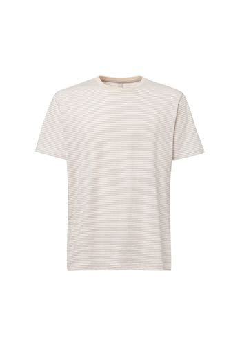 ThokkThokk Herren T-Shirt Triple Striped Beige Bio Fair