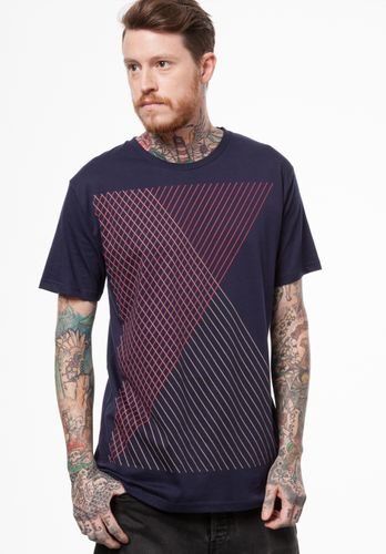 ThokkThokk Spacegrid T-Shirt blue/midnight made of 100% organic cotton // GOTS and Fairtrade certified