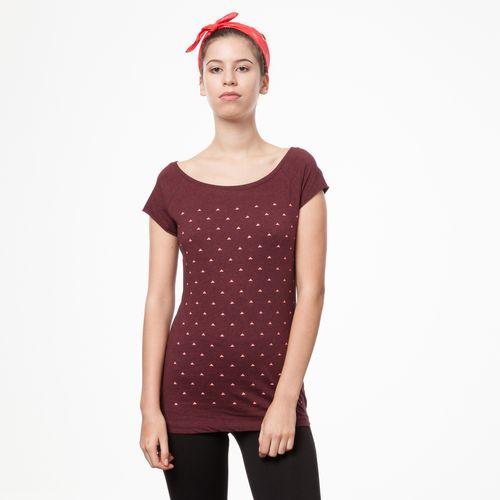 ThokkThokk Pythagoras Cap Sleeve coral/dark red melange made of 100% organic cotton // GOTS and Fairtrade certified
