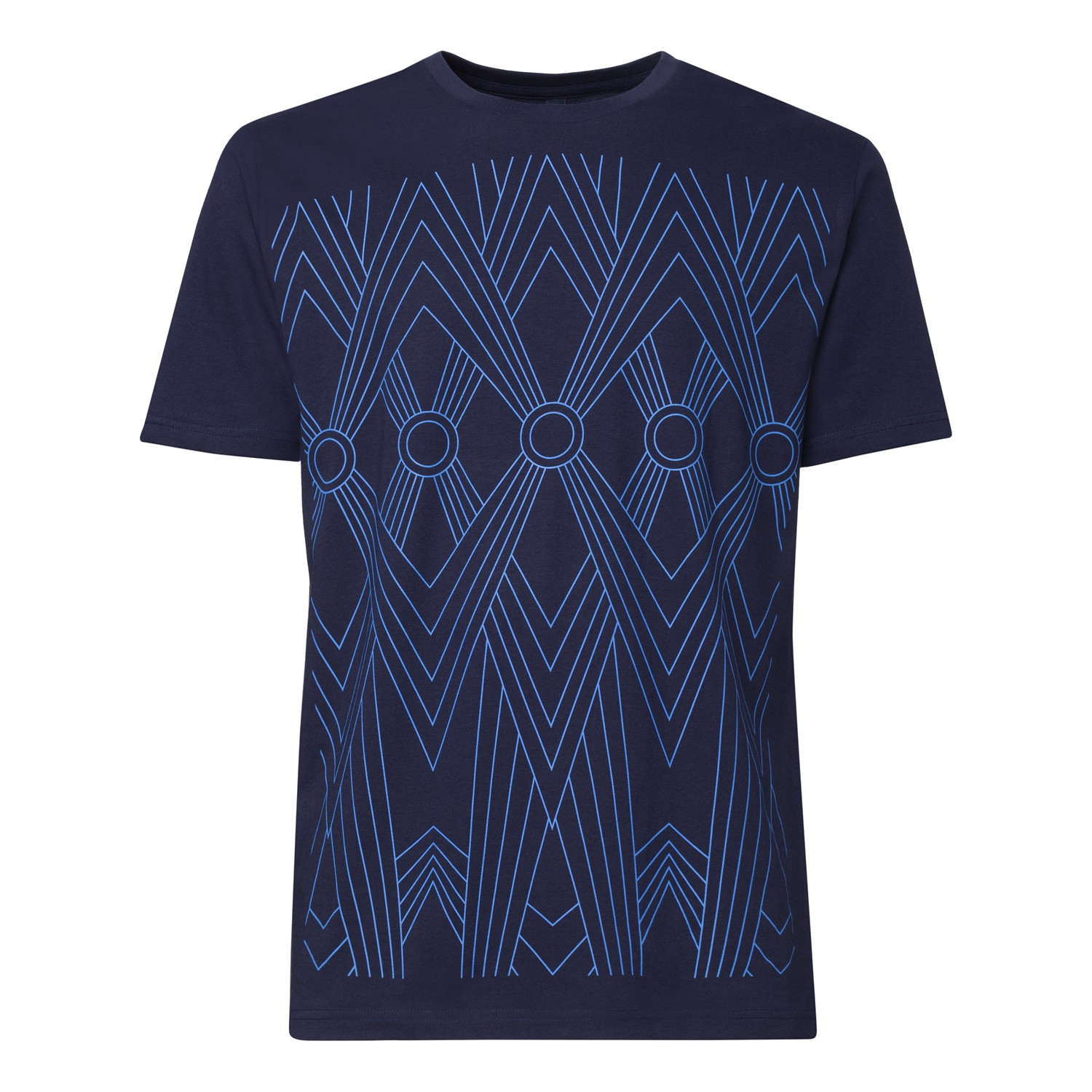Tapestry T-Shirt skyblue/midnight spotted GOTS & Fairtrade