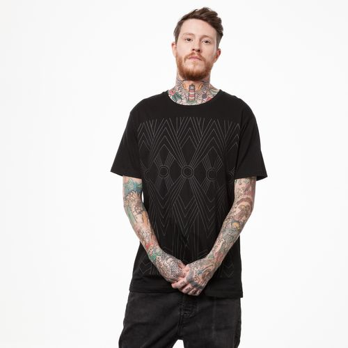 ThokkThokk ZigZag T-Shirt black/black made of 100% organic cotton // GOTS and Fairtrade certified