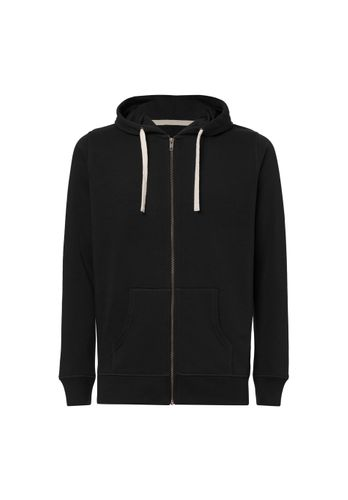 ThokkThokk Men Hoodie Zip Jacket Black Organic Fair