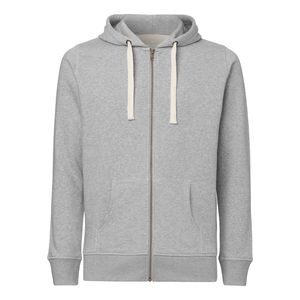 ThokkThokk Man Hooded Sweater Heather Grey Bio & Fair