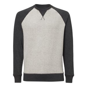 ThokkThokk Herren Inside-Out Sweatshirt Dark Heather Grey Bio & Fair