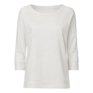 ThokkThokk Woman 3/4 Tencel Sweatshirt Cream Heather Grey Bio & Fair