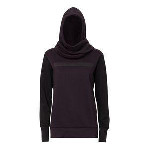 ThokkThokk TT1017 Wrap Hoodie woman black/java made of 100% organic cotton // GOTS and Fairtrade certified