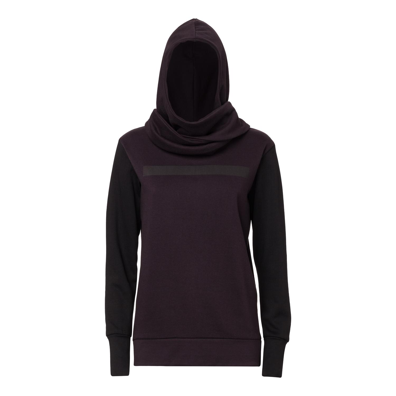 2. Wahl TT1017 Wrap Hoody woman black/java GOTS & Fairtrade