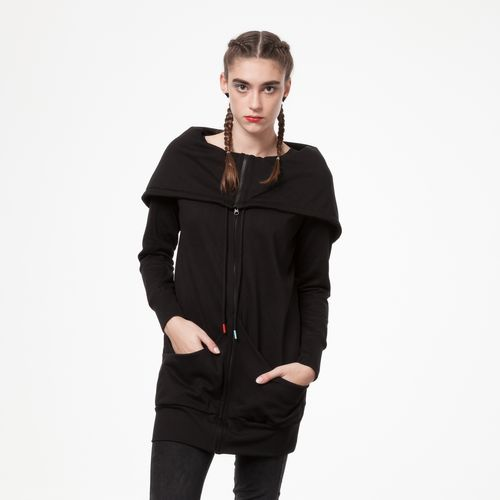 ThokkThokk TT1013 Yuki Zipjacket Black Woman made of 100% organic cotton // GOTS & Fairtrade certified