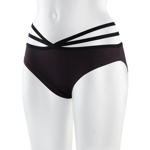 ThokkThokk TT21 Panty Open Strap java made of organic cotton // GOTS and Fairtrade certified