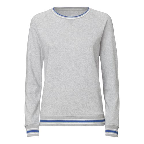 ThokkThokk Damen Sweater H. Grey/White/Deep Royal Blue Bio & Fair