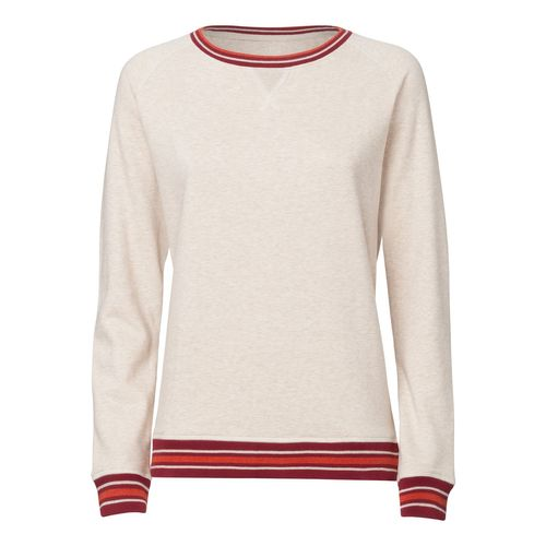 ThokkThokk Damen Sweater MH Beige/Burgundy/H Brick Orange Bio & Fair