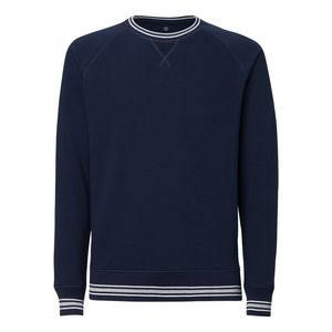 ThokkThokk Herren Sweater French Navy/White/Heather Grey Bio & Fair