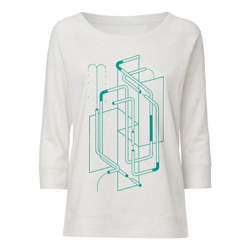ThokkThokk ST Tubes Tencel Sweatshirt cream heather grey