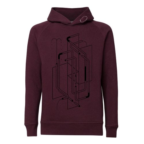 ThokkThokk ST Tubes Kapuzensweatshirt heather grape red