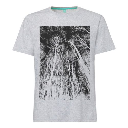 ilovemixtapes Herren T-Shirt Forest Hellgrau Bio Fair
