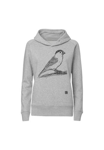 ilovemixtapes Women Hoodie Spatz Light Grey Organic Fair